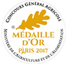 Médaille d'Or Paris salon de l'agriculture 2017